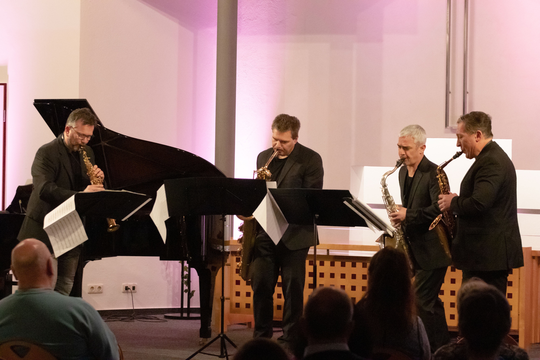 Hartmut Salzmann, Bernd Stich, Alban Hauser und Timur Isakov