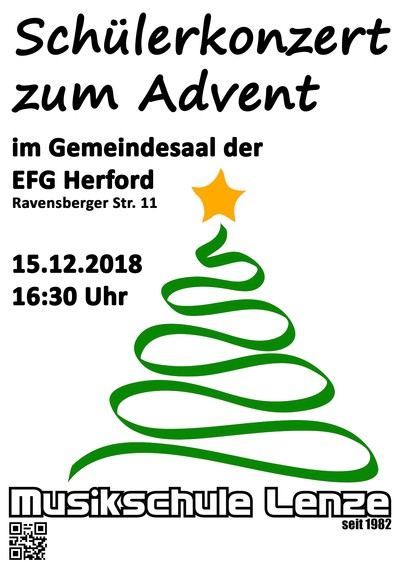 Schülerkonzert zum Advent